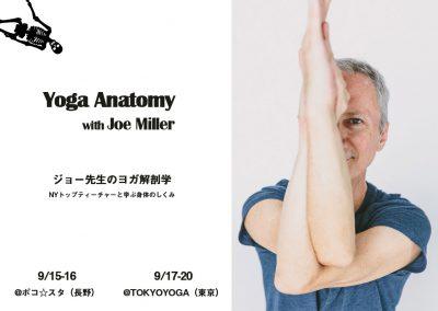 【9月】ジョー先生のヨガ解剖学 ::: Joe Miller