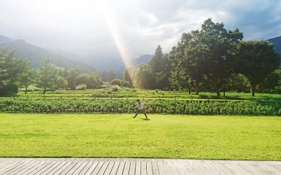 秋コスモスフェスタでパークヨガ@アルプスあづみの公園(10/14)