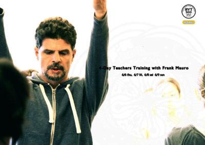 【6月】4日間ヨガ指導者トレーニング(frank mauro, RYT500対応講座)
